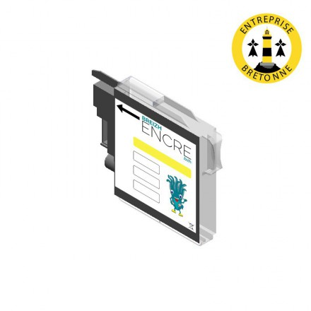 Cartouche BROTHER LC1100Y - Jaune compatible
