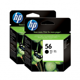 Pack HP 56 x2 - Noir ORIGINAL