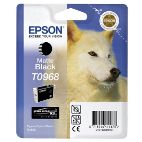 Cartouche EPSON 968 - Noir mat ORIGINE