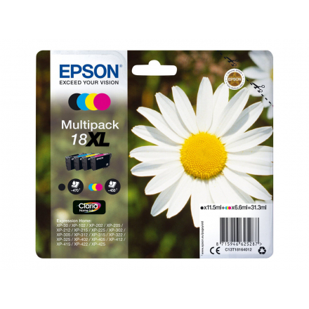 Pack EPSON 18 XL - 4 cartouches compatible