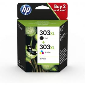 Pack HP 303 XL - Noir et couleurs ORIGINE