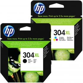 Pack HP 304 XL - Noir et couleurs ORIGINE