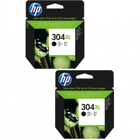Pack HP 304 XL x2 - Noir ORIGINE