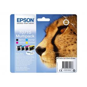 Pack EPSON T0715 - 4 cartouches ORIGINE