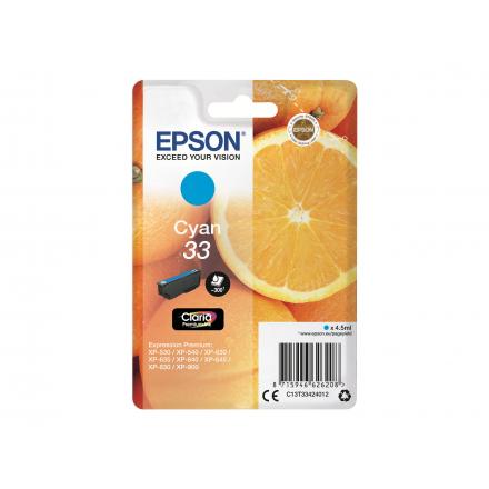 Cartouche EPSON 33 - Cyan ORIGINE