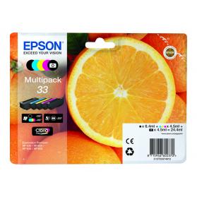 Pack EPSON 33 - 5 cartouches ORIGINE