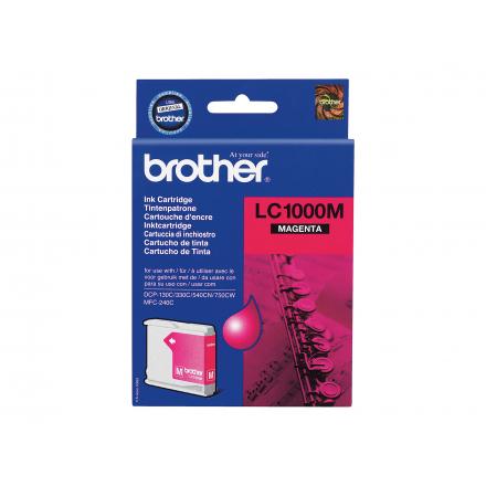 Cartouche BROTHER LC1000M - Magenta ORIGINE