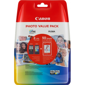 Pack CANON PG-540 XL/CL-541 XL + Papier photo ORIGINE