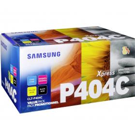 Pack SAMSUNG CLT-P404C - 4 toners ORIGINE