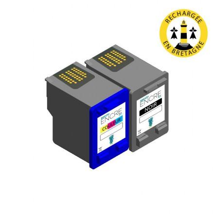 Pack HP 27/28 - Noir et couleurs compatible