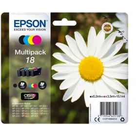 Pack EPSON 18 - 4 cartouches ORIGINE