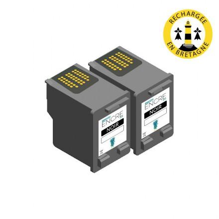 Pack HP 56 x2 - Noir compatible