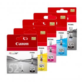 Pack CANON 520/521 - 5 Cartouches ORIGINE