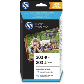 Photo Value Pack HP 303 - Noir et couleurs ORIGINE