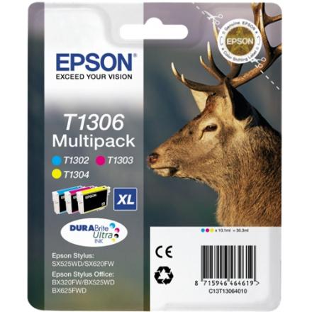 Pack EPSON T1306 - 3 cartouches ORIGINE