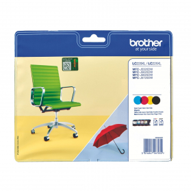 Pack BROTHER LC225/227 XL - 4 cartouches ORIGINE