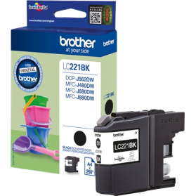 Cartouche BROTHER LC221 - Noir ORIGINE