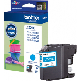 Cartouche BROTHER LC221 - Cyan ORIGINE