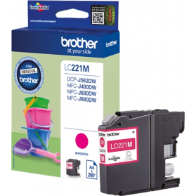 Cartouche BROTHER LC221 - Magenta ORIGINE