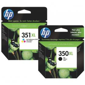 Pack HP 350/351 XL - Noir et couleurs ORIGINE