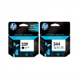 Pack HP 339/344 - Noir et couleurs ORIGINE