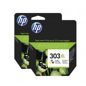 Pack HP 303 XL x2 - 3 couleurs ORIGINE