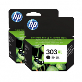 Pack HP 303 XL x2 - Noir ORIGINE