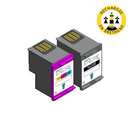 Pack HP 62 - Noir et couleurs compatible