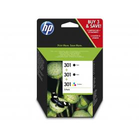 Pack HP 301 - Noir x2 et couleurs ORIGINE