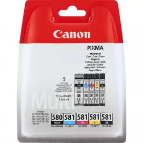 Pack CANON PGI-580/CLI-581- 5 cartouches ORIGINE
