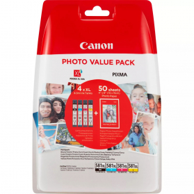 Photo Value Pack CANON CLI-581 XL - 4 cartouches ORIGINE