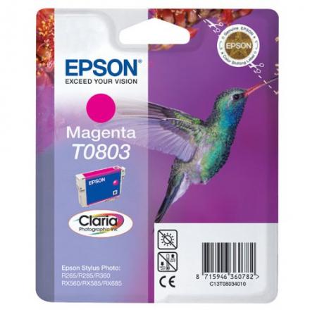 Cartouche EPSON T0803 (Colibri) - Magenta ORIGINE