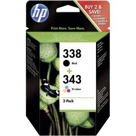 Pack HP 338/343 - Noir et couleurs ORIGINE