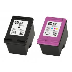 Pack HP 62 - Noir et couleurs, sans emballage ORIGINE