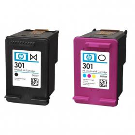 Pack HP 301 - Noir et couleurs, sans emballage ORIGINE