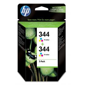 Pack HP 344 x2 - 3 couleurs ORIGINE