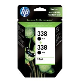 Pack HP 338 x2 - Noir ORIGINE
