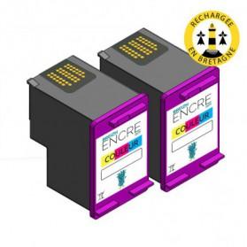 Pack HP 301 XL x2 - 3 couleurs compatible