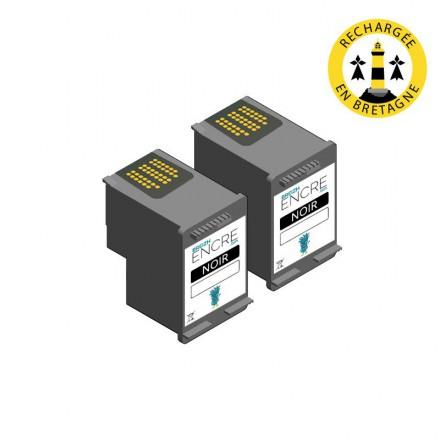 Pack HP 302 x2 - Noir compatible