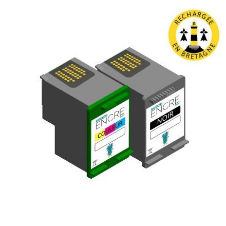 Pack HP 337/343 - Noir et couleurs compatible