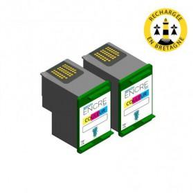 Pack HP 343 x2 - 3 couleurs compatible