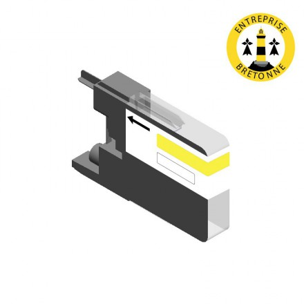 Cartouche BROTHER LC1240Y - Jaune compatible