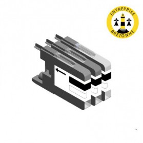 Pack BROTHER LC1240BK x3 - Noir compatible